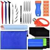 PACETAP Car Vinyl Wrap Tool kit 11 Pcs Window Tint Tools Kit Including Package Bag, Felt Squeegee, Edge Trimmer, Soft Corner