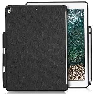 ProCase iPad Pro 10.5 ケース 保護ケース バックカバー Appleペンシルホルダー付き iPad Pro 10.5インチ 2017専用 Appleスマートキーボードとカバーに対応 -ブラック