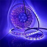 iNextStation LED Black Light Strip, 16.4ft 12V 300 Units Purple LED Flexible Non-Waterproof Blacklight Fixtures for Indoor Fl