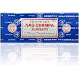 Satya Sai Baba Nag Champa Agarbatti Incense Sticks Box 250gms Hand Rolled Agarbatti Fine Quality Incense Sticks for Purificat