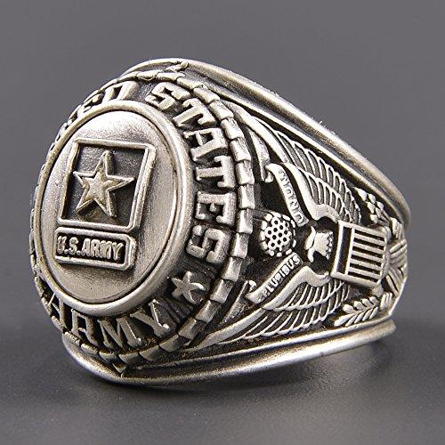 [해외]결산 처분 세일 대학 반지 US ARMY 합금 실버/Settlement disposal sale College ring US ARMY alloy silver