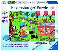 Ravensburger Dogs Love Ice Cream Super Sized Floor Jigsaw Puzzle (24 Piece)