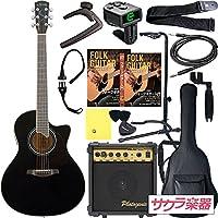 S.Yairi ヤイリ アコースティックギター エレアコ YE-5M/BK サクラ楽器オリジナル PW入門セット[Planet Waves小物セット]