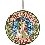 Enesco Jim Shore Heartwood Creek Holy Family Dated 2021 Hanging Ornament