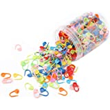 500 pcs/Canister Mix Color Knitting Stitch Markers Crochet Clips Plastic Safety Pins Clips Sweater Mark Buckle Needle, Knitti