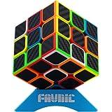XMD 魔方 立体パズル 3x3 炭素繊維 FAVNIC ステッカー 競技専用 回転スムーズ 世界基準配色 ver.2.1 グレードアップ版