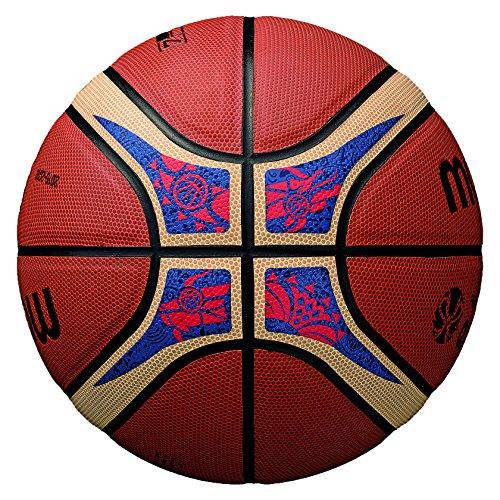 MoltenバスケットボールFibaワールドカップ、オレンジ/タン、公式サイズ7