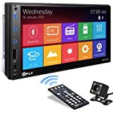 P.L.Z MP-800 Car Entertainment Multimedia System – 7 Inch Double Din HD Touchscreen Monitor Car Stereo – MP5 Player Bluetooth