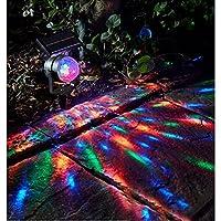 ソーラーled芝生ライト、芝生ライトガーデンライト、ガーデンライト屋外風景ライトパークライト回転ランタン投影ランプスターライト防水
