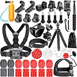 Neewer 54-In-1 Action Camera Accessory Kit for GoPro Hero 7 6 5 4 3+ 3 2 1 Hero Session 5 Black AKASO EK7000 Apeman SJ4000 5000 6000 DBPOWER AKASO VicTsing WiMiUS Rollei QUMOX Lightdow Campark und Sony Sports Dv and More
