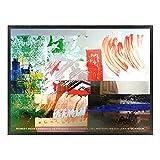 A.P.J. ポスター額装(現代アート) ロバート・ラウシェンバーグ マスターパスチャー A1892 グラーノフレームブラック