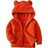 AMIYAN Bear Ears Shape Fleece Warm Hoodies Clothes Toddler Zip-up Light Jacket Sweatshirt Outwear for Baby Boys Girls