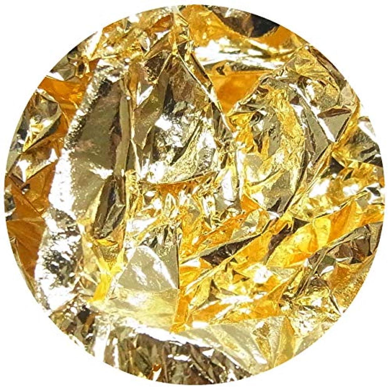 渦トロリー高齢者【jewel】ネイルホイル 金箔風 ケース付き 金箔 銀箔 (金箔)