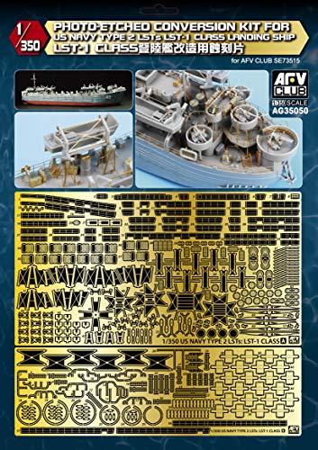 AFVクラブ 1/350 LST-1 戦車揚陸艦ディテールアップ用エッチングパーツ プラモデル用パーツ AG35050