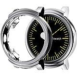 対応Ticwatch Eアクセサリーケース、TPUメッキスクリーンプロテクター、頑丈なカバー[傷防止]オールラウンド保護バンパーシェル対応Ticwatch Eスマートウォッチ (グレー)