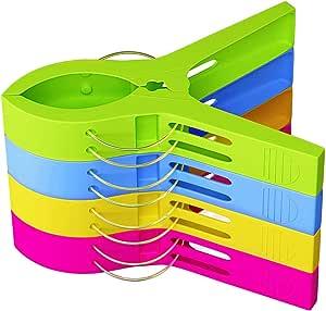 洗濯バサミ 大きなクリップ 12個入 洗濯ばさみ 物干竿用 ピンチ 強力 防風クリップ (マルチカラー)