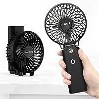 Aujen 携帯扇風機 充電式 最大作動時間35h 【2020年最新】手持ち扇風機 ハンディファン 小型 卓上扇風機 5…