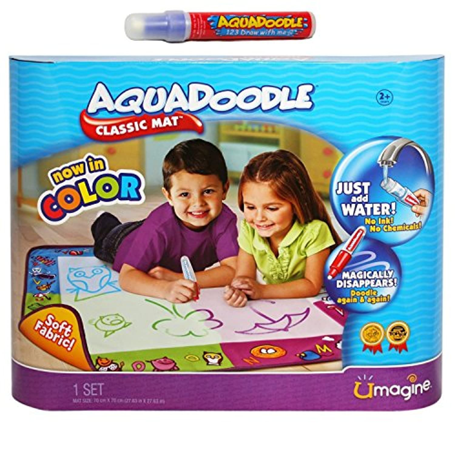 AquaDoodle Draw N Doodle Classic Mat with BONUS Pen and Cap 20039844 [並行輸入品]