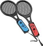 ZOYUBS【2020新発売】 Nintendo Switch テニスラケット マリオテニス エース Joy-Conハンドル 体感コントロールゲーム マリオテニス用Nintendo Switch Joy-Con Nintendo Switch マリオテニス エース(2)ハンドル スイッチ ジョイコン専用 ラケット型 任天堂スイッチコントローラ Joy-con 任天堂 switch ジョイコンおもちゃのテニスラケット【2個】(黑)