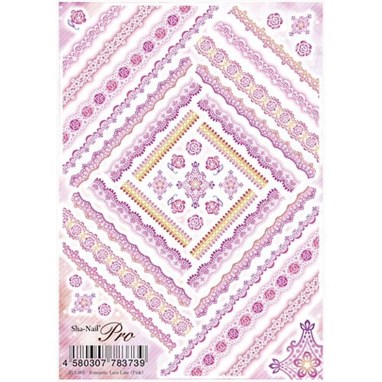 インド期間引き渡す写ネイルプロ ロマンチックレースライン ピンク