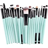 (Black) - Cinidy 20 pcs Makeup Brush Set Tools Make-up Toiletry Kit Wool Make up Brush Set (Black)