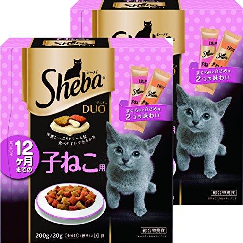 シーバ (Sheba) デュオ 12か月までの子ねこ用 200g(20g×10袋入り)×2個セット [キャットフード・ドライ]