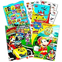 Disney Mickey and the Roadster RacersカラーリングブックSuperセットwith Stickers and Bonus Tattoos (パーティーSupplies )