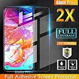 Glass Pro+ for Samsung Galaxy A70 Scratch Resistant Tempered Glass LCD Screen Protector Film Guard (2 Pack)