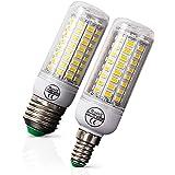 E27/E14 LED Corn Light Bulb, 3W-5W LED Bulb Whole Body Hight Brightness LED Corn Lamp AC220V-240V for Outdoor Indoor Garage W