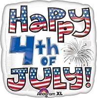 4th of July Squareバルーン–5個