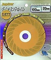 ジュピター(Jupiter) ダイヤモンドホイール チタンコーティング ゼブラタイプ 100mm 100186