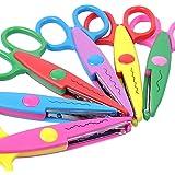 UCEC 6 Colorful Decorative Paper Edge Scissor Set, Great for Teachers, Crafts, Scrapbooking, Kids Design