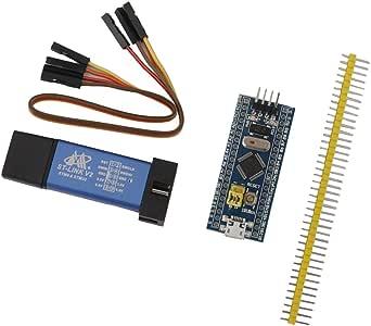 電子部品 STM32F103C8T6モジュール+ ST-Link V2プログラミングユニットエミュレータ