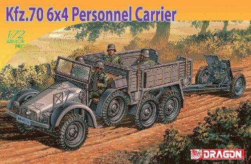1/72 クルップ プロッツェ Kfz.70 6×4 兵員輸送車 & 3.7cmPaK35/36対戦車砲