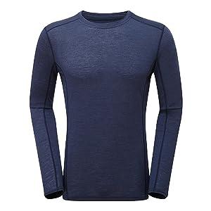 MONTANE/モンテイン PRIMINO 140 L/S T-Shirt/プリミノ140 L/S Tシャツ メンズ アンタクティクブルー(736)【日本正規品】