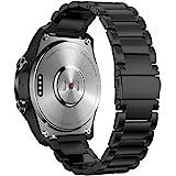 Ticwatch pro 3 バンド,For Ticwatch pro3/Pro ベルト,通用 22mm ステンレス バンド For Galaxy Watch 46mm,Fossil Q EXPLORIST,Huawei Watch 3/3 Pro/
