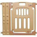 アイリスプラザ ベビーゲート ベビーガード ベビーフェンス 扉 オートクローズ 突っ張りタイプ 拡張パネル付き 設置幅70-98cm ライトブラウン