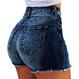Women's Butt Lifting Push up Stretch Short Pants Denim Jean Shorts Pockets
