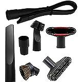 "Generic Replacement Flexible Crevice Tool 6 Pcs Vacuum Attachments Accessories Brush Set for 1.25"" Vacuum Hoses (32-35mm Brus"