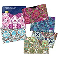 (6) RFID Blocking Sleeves Credit Card Holder Vera Bradley Inspired to protect your identity from theft (Variety 2)
