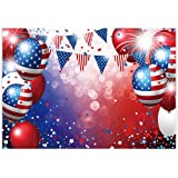 Allenjoy 7x5ft Independence Day Backdrop for Photography American Flag Stars and Stripes Ballon Veterans Day Decor 4th of Jul