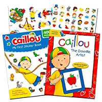 (Activity Super Set) - Caillou Party Supplies Caillou Activity and Stickers Book Set for Toddlers Kids -- 2 Caillou Books Filled with over 400 Caillou Stickers and Games (Activity Super Set)