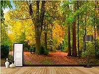 Bzbhart 3Dデザイン ウォール壁画壁紙画像森林公園絵画装飾 ウォール壁画壁紙リビングルーム-300cmx210cm