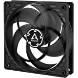 ARCTIC P12 PWM - 120 mm Case Fan with PWM, Pressure-optimised, Very Quiet Motor, Computer, Fan Speed: 200-1800 RPM - Black/Tr