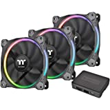 Thermaltake Ring 12 LED RGB Radiator Fan Sync Edition (3-Fan Pack) CL-F071-PL12SW-A