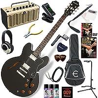 EPIPHONE エレキギター 初心者 入門 ギブソンES-335のエピフォン版 レトロなデザインで多機能・高音質のYAMAHA THR5が入ってる大人の19点セット Dot/EB(エボニー)