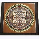 チベット密教 仏画 タンカ 曼荼羅 マンダラ 肉筆画 カーラチャクラ ( 時輪曼荼羅 )