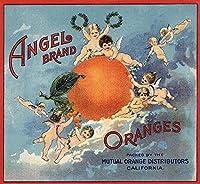 Angelブランド–カリフォルニア–Citrusクレートラベル 12 x 18 Art Print LANT-57111-12x18