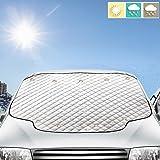 フロントカバー 凍結防止カバー 雪対策 車サンシェード 日焼け止め 内臓磁石11枚強力付着 サンシェード 183*116cm 四季用 遮光 落葉対策 防水材料 厚手 普通車/軽自動車/SUVに適用