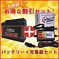 PERFECT POWER リチウムバイクバッテリー LFP4A-5 + PerfectPower バッテリー充電器 充電済 互換 YTR4A-BS GTR4A-5 FTR4A-BS 即使用可能 Dio タクト モンキー